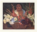 Flower Seller Art Print