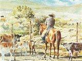 Checking the Calves Art Print