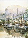 Boats Near Mendocino Art Print