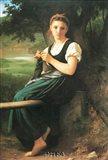 Knitting Girl, 1869 Art Print