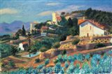 A Riviera Hillside Art Print