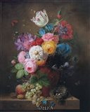 A Rich Still Life of Roses Art Print