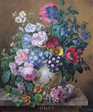 A Rich Still Life of Summer Flowers Art Print