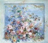 Roses dans une Fenetre Art Print