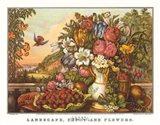 Landscape, Fruit and Flowers Art Print