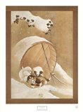 Puppies in the Snow Art Print