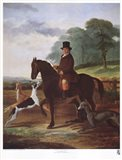 Huntsman with his Greyhounds Art Print