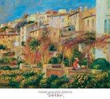Terrace at Cagnes Art Print