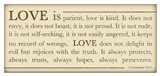 Love is Patient Art Print