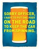 Sorry Officer Art Print