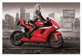Marilyn's Motorcycle Art Print