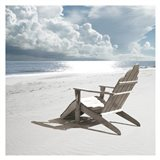 Solitary Beach Chair Art Print