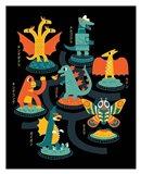 Tokyo Zoo Art Print