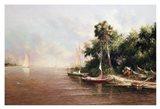 Fisherman Landing Art Print