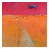 Landscape in Orange and Red Art Print