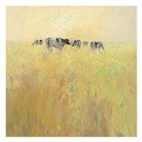 Cows in Spring Art Print