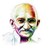 Gandhi - I Am Love Art Print