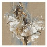 White Dress III Art Print