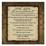 The Ten Commandments Art Print