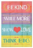 Kind Play Show Think Art Print