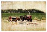 Faith Family Farming Art Print