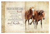 Trust in the Lord (Horses) Art Print