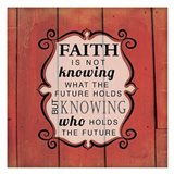 Knowing Who Holds the Future Art Print