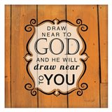Draw Near to God - Orange Art Print