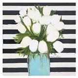 White Tulips Art Print