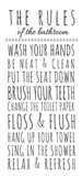 Rules of the Bathroom Art Print