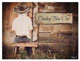Cowboy Time OUt Art Print