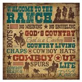 Welcome to the Ranch Art Print