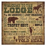 Welcome to the Lodge - Hunting Art Print