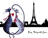 From Paris with Love Catitudes Art Print