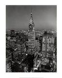 New York, New York, Chrysler Building at Night Art Print