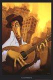El Guitarrista Art Print