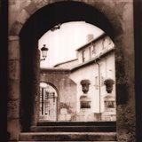 Courtyard In Burgos Art Print
