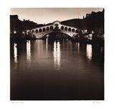 Ponte Rialto di Notte Art Print