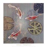 Floating Motion II (14 x 14) Art Print