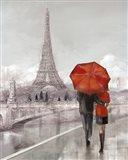 Couple in Paris Art Print