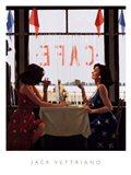 Cafe Days Art Print