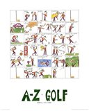 A-Z of Golf Art Print