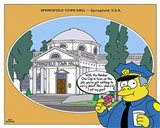 Simpsons - Springfield Town Hall (postercard) Art Print