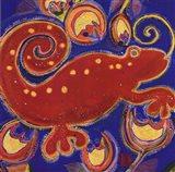 Cameleon Rouge Art Print