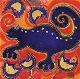 Cameleon Bleu Art Print