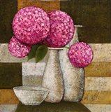 Hydrangeas with Vase I Art Print
