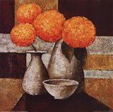 Hydrangeas with Vase III Art Print