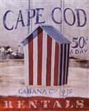 Cape Cod Cabana Art Print