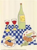 Wine and Cheese Picnic Art Print