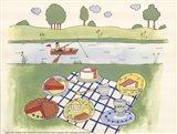 Lakeside Picnic Art Print
